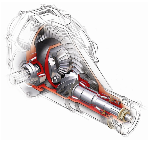 Differential gear & shaft