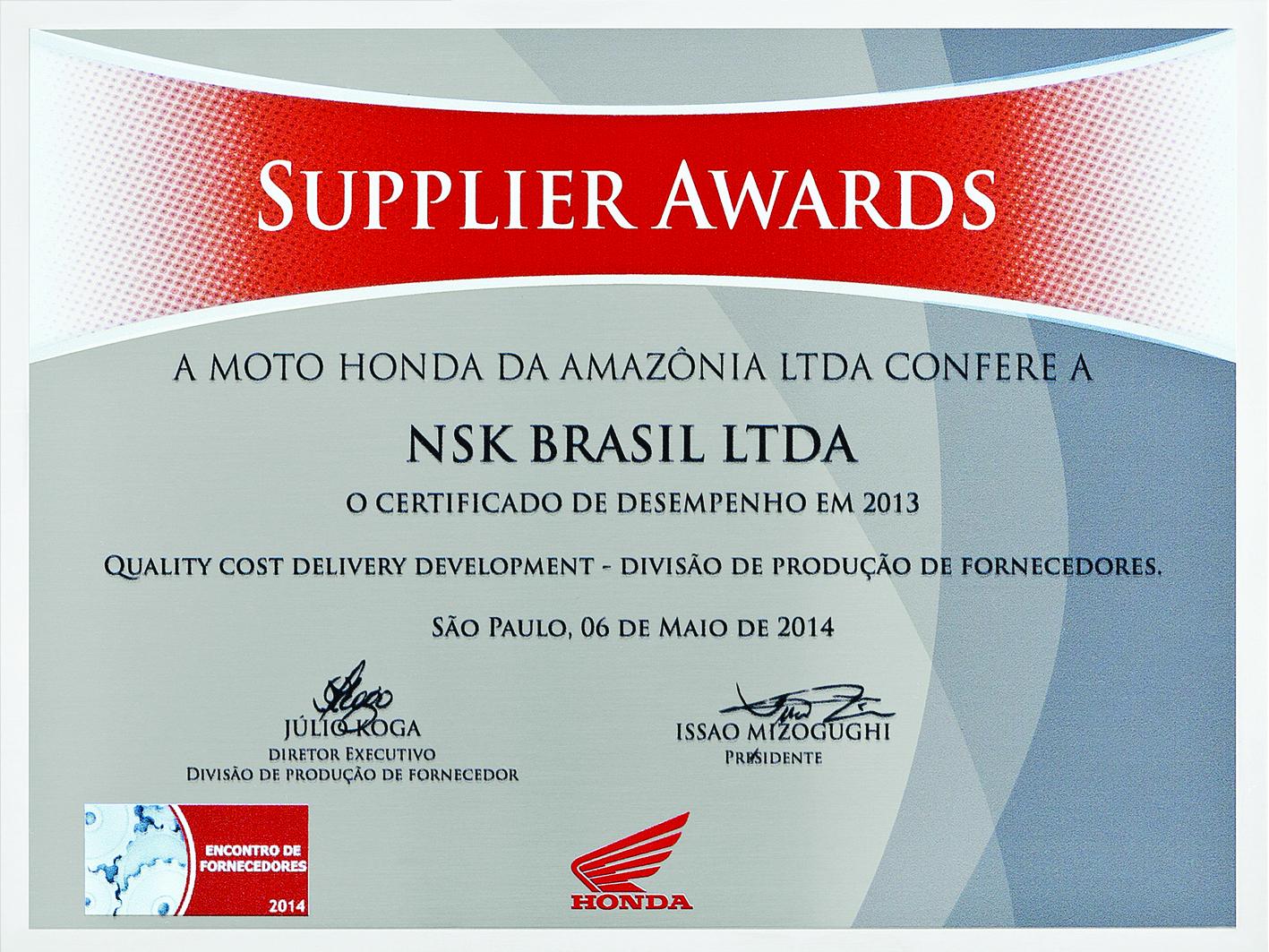 A NSK é uma das líderes mundiais na fabricação de